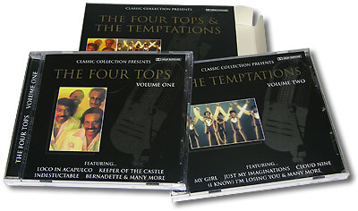 "Classic Collection Presents The Four Tops & The Temptations (2 CD) ""The Four Tops"" ""The Temptations"" инфо 5756g."
